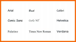 veschillende soorten lettertypes