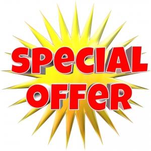 plaatje met tekst special offer