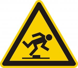 waarschuwing dat je op moet passen voor een opstak