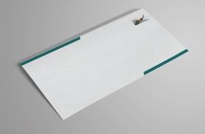 een blanco envelop