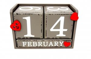 kalender met datum 14 februari