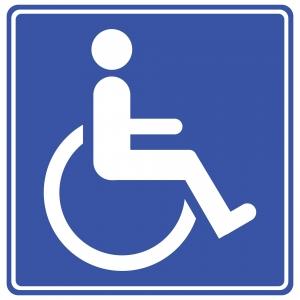 icoon van iemand in een rolstoel
