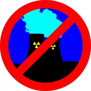 een plaatje tegen kernenergie