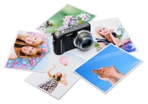 fototoestel met daarom heen fotostickers
