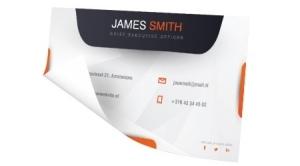 een visitekaartje als sticker