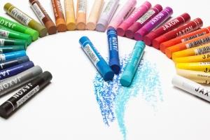 krijtjes in allerlei kleuren