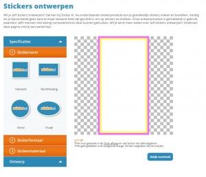 printscreen van ontwerpmodule