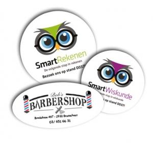 stickers met logo's