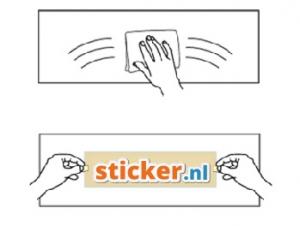 Stickers plakken