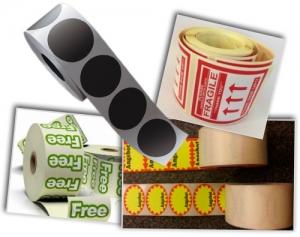 voorbeelden van stickers op rol