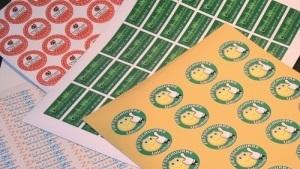 stickers op een vel