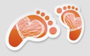 voetstappen als vloerstickers