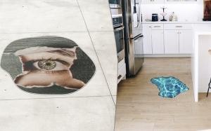 driedimensionale vloerstickers
