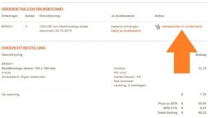 printscreen van website