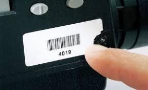 voorbeeld van een ultra destructable sticker